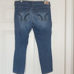Hollister Jeans - Great Hollister distressed boyfriend cropped jeans